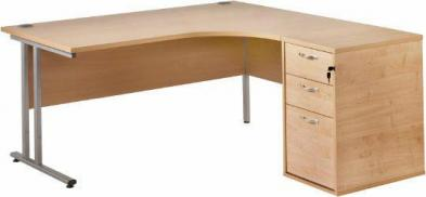 Radial Desk and Pedestal